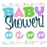 Ilustración de la ducha de bebé Imagenes de archivo