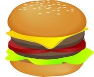 Ilustración de la hamburguesa Foto de archivo
