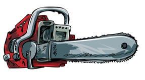Ilustración de la motosierra vieja Imagenes de archivo