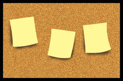 Ilustración de la nota de post-it del tablón de anuncios del corcho Imagen de archivo libre de regalías