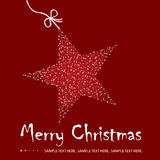 Ilustración de la postal de la Navidad Fotos de archivo