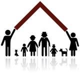 Ilustración de la protección de la familia. Fotografía de archivo libre de regalías