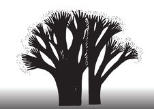 Ilustración de la silueta del árbol Foto de archivo libre de regalías