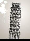 Ilustración de la torre de Pisa Imágenes de archivo libres de regalías