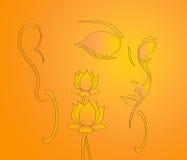 Ilustración de señor buddha   Imagenes de archivo