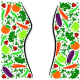 Ilustración de una dieta sana Imágenes de archivo libres de regalías