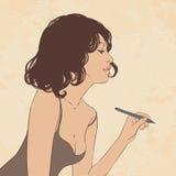 Ilustración de una mujer hermosa joven Fotos de archivo libres de regalías