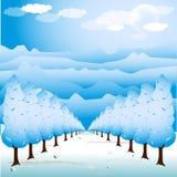 Ilustración del camino del árbol Fotografía de archivo libre de regalías
