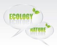 Ilustración del discurso de la burbuja de la ecología Fotografía de archivo