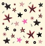 Ilustración del vector de estrellas de mar Foto de archivo libre de regalías