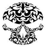Ilustración del vector del cráneo tribal Fotos de archivo libres de regalías