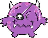 Ilustración del vector del monstruo del pirata Fotografía de archivo libre de regalías