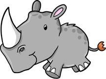 Ilustración del vector del rinoceronte Foto de archivo libre de regalías