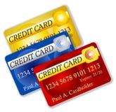 Ilustración falsa de las tarjetas de crédito Imágenes de archivo libres de regalías