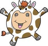 Ilustración feliz del vector de la vaca Fotos de archivo libres de regalías