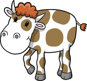 Ilustración feliz del vector de la vaca Imagenes de archivo