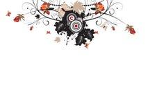 Ilustración floral urbana abstracta del otoño Imagen de archivo libre de regalías
