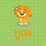 Ilustración linda del vector del león Imágenes de archivo libres de regalías