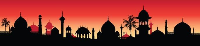Ilustración: panorama indio Fotos de archivo libres de regalías