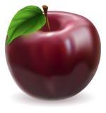 Ilustración roja de la manzana Imágenes de archivo libres de regalías