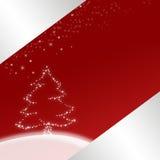 Ilustración roja de la Navidad Imagen de archivo libre de regalías