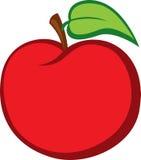 Ilustración roja del vector de Apple Imágenes de archivo libres de regalías
