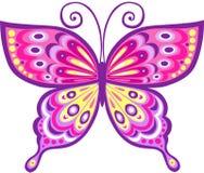 Ilustración rosada del vector de la mariposa Foto de archivo