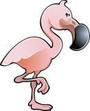 Ilustración rosada linda del vector del flamenco Fotografía de archivo libre de regalías