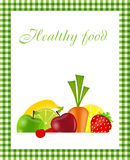 Ilustración sana del vector del modelo del menú del alimento Fotos de archivo libres de regalías