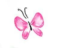 Ilustración simple de la mariposa rosada Imagen de archivo libre de regalías