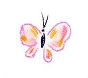 Ilustración simple de la mariposa violeta Fotografía de archivo