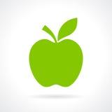 Ilustración verde de la manzana Imagenes de archivo