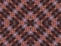 Ilustraciones únicas coloridas generadas por ordenador artísticas del modelo del fractal del diamante del extracto stock de ilustración