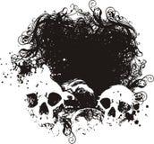 Ilustraciones asustadas de los cráneos. ilustración del vector