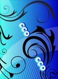Ilustraciones azules Fotografía de archivo