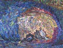 Ilustraciones con las cáscaras del mar Imagen de archivo libre de regalías
