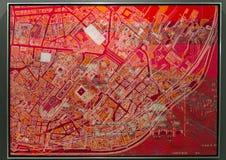 Ilustraciones de Estambul contemporánea, 2017 Imagen de archivo libre de regalías