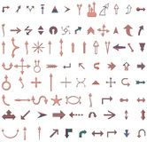 Ilustraciones de la flecha Imagen de archivo