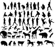 Ilustraciones de la gente y de animales Fotografía de archivo libre de regalías