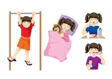 Ilustraciones de la muchacha stock de ilustración