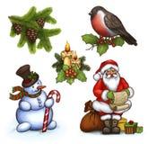 Ilustraciones de la Navidad Imagenes de archivo