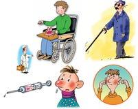 Ilustraciones de la trama sobre cuidado médico y medicina Fotografía de archivo libre de regalías