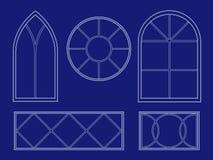 Ilustraciones de la ventana del modelo Fotografía de archivo libre de regalías