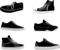 Ilustraciones de las zapatillas de deporte Imagen de archivo libre de regalías
