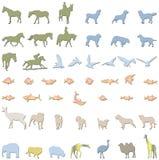 Ilustraciones de los animales Fotografía de archivo
