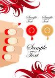 Ilustraciones de proceso de la manicura Imágenes de archivo libres de regalías