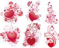 Ilustraciones del día de tarjeta del día de San Valentín Imagen de archivo libre de regalías