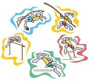 Ilustraciones del deporte del conejito Fotos de archivo