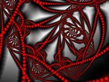 Ilustraciones del fractal para el diseño creativo Rojo y gris stock de ilustración