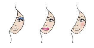 Ilustraciones del maquillaje Imagenes de archivo
